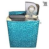 E-Retailer Classic Light Green Colour With Square Design Semi-Automatic Washing Machine Cover Upto 7 Kg Capacity