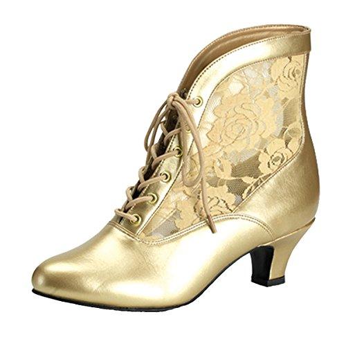Heels-Perfect, Bottes pour Femme Doré