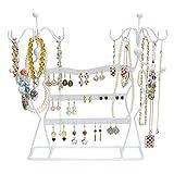 Portagioie design 'Profili di donna' - Bianco 35 x 34 x 8 cm - Organizer per raccogliere e presentare bijoux - Grinscard
