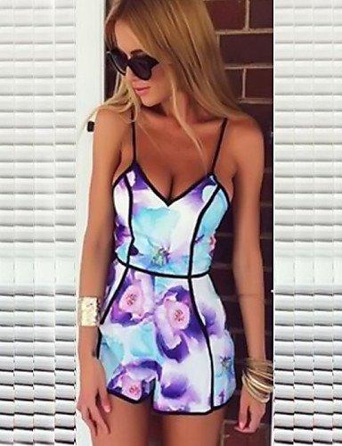 GSP-Combinaisons Aux femmes Sans Manches Sexy/Décontracté/Grandes Tailles Polyester Moyen Micro-élastique purple-m
