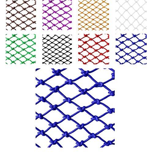 Wlh Rope Net Kinderschutznetz Sicherheitsnetz Dekorationsnetz, Haustier im Freien Absturzsicherungsnetz Seilnetz (Größe: 6mm Seil, 12cm Loch) (Farbe: Blau) (Size : 3 * 3m)