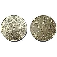 Monete per collezionisti - Queen Elizabeth II Silver Jubilee commemorativa Crown 1977