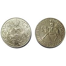 Monedas para coleccionistas - Queen Elizabeth II del jubileo de plata de la corona conmemorativa 1977