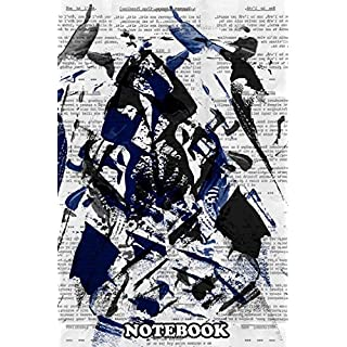 Notebook: Text Samurai By Gasponcetext Art Mixed With Acrylics Ab , Journal for Writing, College Ruled Size 6