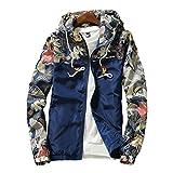 Herren Kapuzenjacke Zipper Pullover Coats Casual Jacken Sport Hiphop Sweatjacke Blumenbomber Langarmshirt Slim Fit Jacke Cardigan Hoodie Outwear Outfits