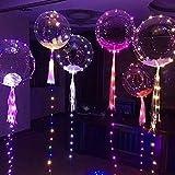 Pawaca Leuchtende Led Luftballons, Bunte Blinkendes LED Licht Ballons für Party, Weihnachten, Geburtstag, Hochzeit, Festival,
