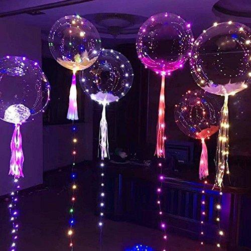 Pawaca Leuchtende Led Luftballons, Bunte Blinkendes LED Licht Ballons für Party, Weihnachten, Geburtstag, Hochzeit, Festival, Dauert 8-24 Stunden