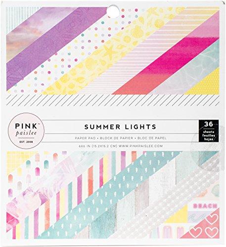 American Crafts Pink Paislee einseitig Papier Pad 6x 636/Pkg, Mehrfarbig, 16,51x 15,2x 1,01cm -