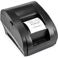 TEROW Impresora de recibos, Impresora térmica de recibos Impresora de etiquetas portátil mini USB 58 mm con impresión de alta velocidad-5890K
