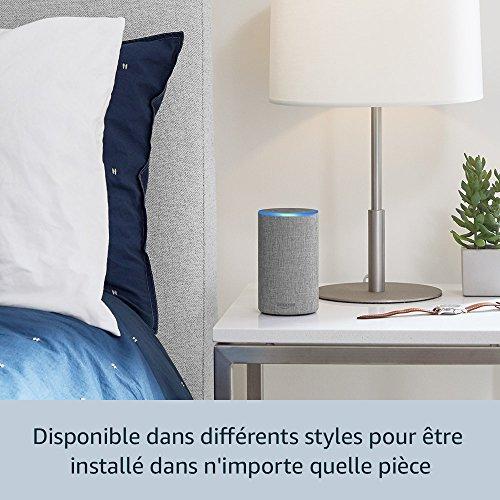 51qE24EzidL [Bon Plan Netatmo] Amazon Echo (2ème génération), Tissu gris chiné + Thermostat Connecté Netatmo by Starck