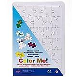 Blanko Puzzle A4 mit Rahmen / Legerahmen zum selbst bemalen, 30 Teile