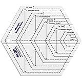 Hexagon-Form-Quilt Entwerfen und Crafting Quilting Ruler Vorlage 5.5 Zoll