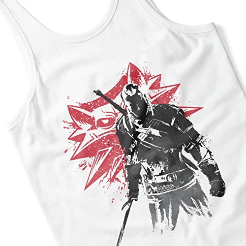 The Witcher Sumi E Geralt Men's Vest White