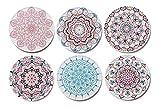 Palooza - Premium Design Mandala Untersetzer (6er Set) - Dekorative...