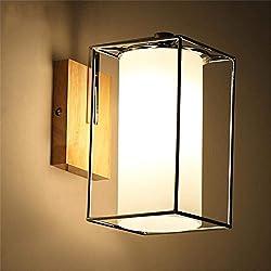 HBA Nachttischlampe einfache moderne Chinesisch Japanisch Harthölzer LED Lampen Schlafzimmer Wohnzimmer Balkon gang Nordic Wand
