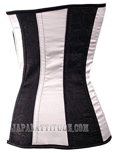 Serra taglia corset nero con pizzo, colore: bianco Nero