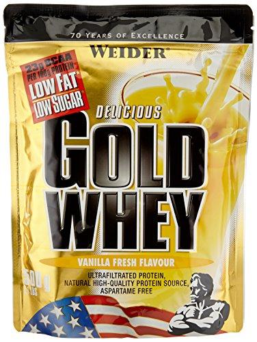 Weider Gold Whey Beutel 2er Pack, Vanille, 2 x 500 g (1...