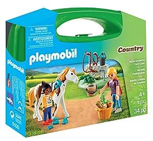 Playmobil-9100 Maletín Grande Cuidado de Caballos,, única (9100