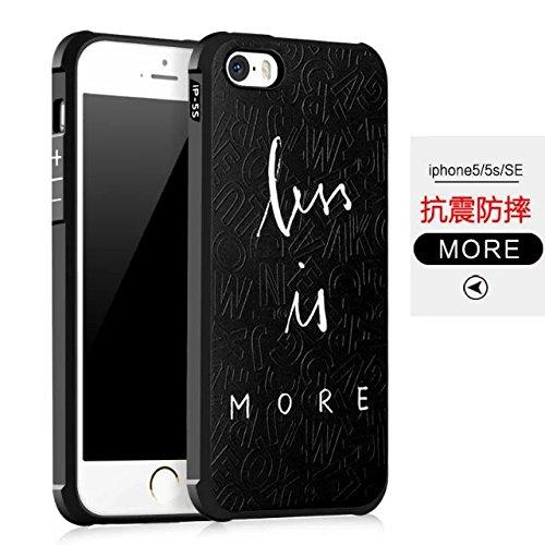 Wkae IPhone SE Case, geprägte Malerei Premium-Qualität Kante inklusive Schutz Shockproof Ultra-dünne weiche TPU Rückseitige Abdeckung Für IPhone SE / iPhone 5 / iPhone 5S ( Color : 4 ) 1