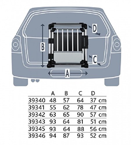 Trixie 39341 Transportbox, Aluminium, 55 x 62 x 78 cm, farblich sortiert - 3