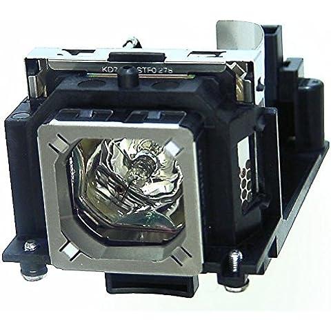 Alda PQ® - Originales lámpara de proyector / repuesto POA-LMP129 / 10-341-7493 para SANYO PLC-XW1100C / PLC-XW65 / PLC-XW65K / PLC-XW6605C / PLC-XW6685C proyectores, lámpara originales con PRO-G6s caja / titular