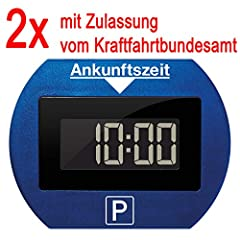 2x Lite elektronische digitale Parkuhr