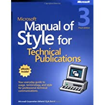 Microsoft® Manual of Style for Technical Publications (BPG-Other)