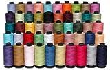 New 50x Spulen groß 100% reine Baumwolle Nähgarn Meter sortiert alle Zweck