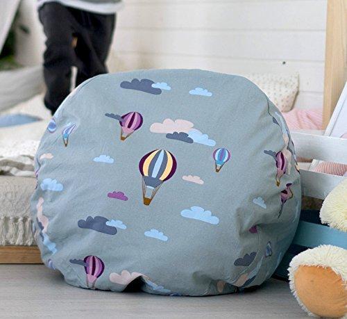 Kenley Plüschtiere Spielzeug Aufbewahrung für Kinderzimmer - Spielzeugkiste Spielzeugaufbewahrung Spielzeugkorb Kiste Box Aufbewahrungskorb Aufbewahrungsbox für Kinder - Benutze es als Sitzsack Sessel