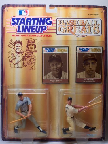 Baseball Greats Mickey Mantle The Mick and Joe DiMaggio The Yankee Clipper Starting Lineup by Starting Line Up - Mickey Mantle Yankees