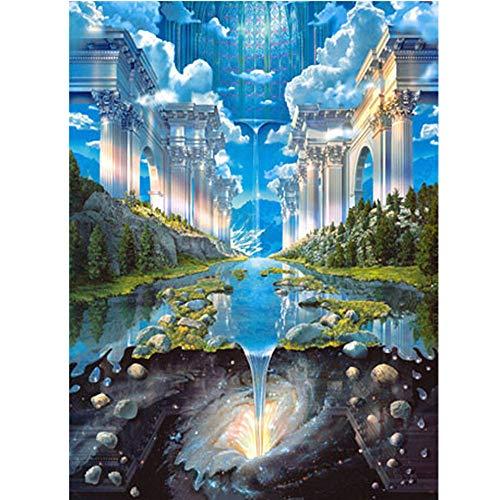 Diamond Painting, Schloss Universum Himmel 5D DIY Diamant Malerei Stickerei Full Drill Crystal Strass Bilder Kreuzstich Handwerk für Home Wall Decor Kreuzstich Kit, 30x40cm