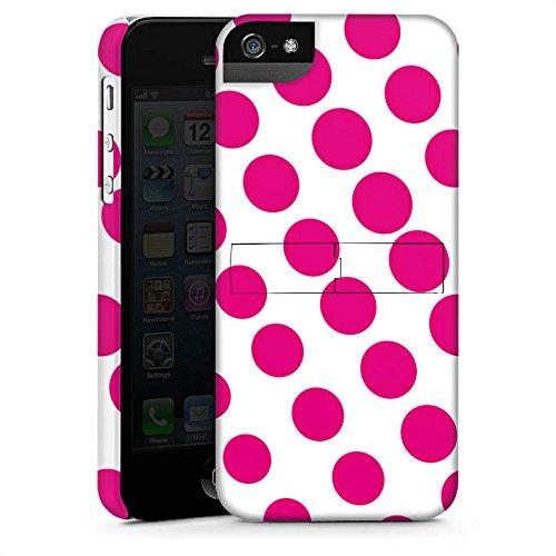 Apple iPhone 6 Housse Étui Silicone Coque Protection Points Rose vif Blanc CasStandup blanc