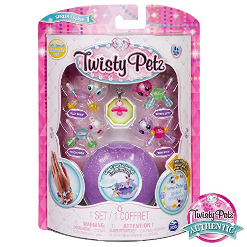 Twisty Petz - Babies 4-Pack Pandas and Kitties Collectible Bracelet Set for Kids