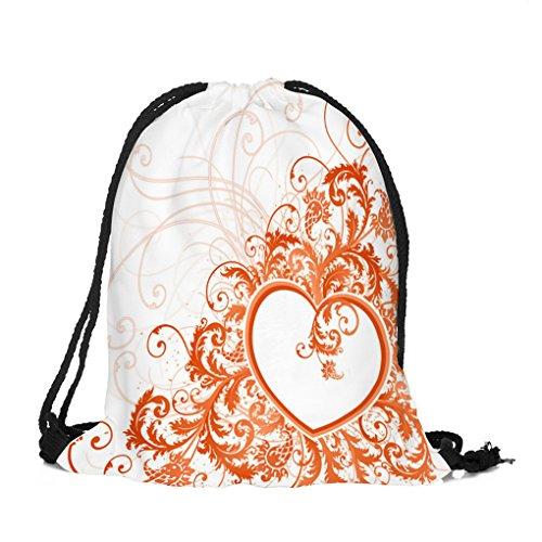 Arbeiten Sie beiläufige Damebeutel-Rucksackfrauen im Freien Sporthandtaschen für FrauenSmädchen JYJMValentinstag Kordelzug ack Sport Gym Travel Outdoor Rucksack Taschen C