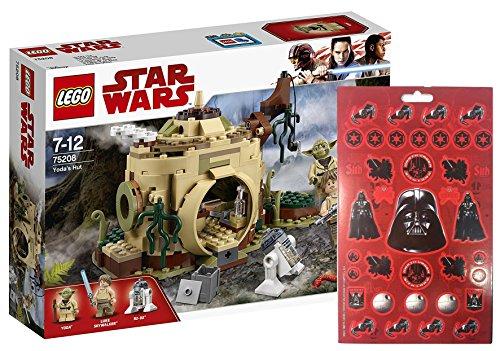 Star Wars LEGO Yodas Hütte 75208 Spielzeug Stickerbogen