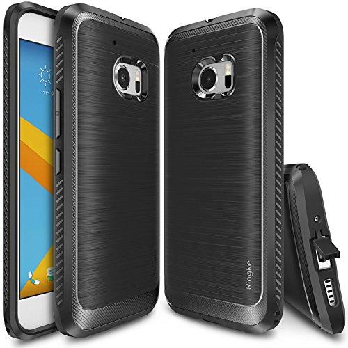 Custodia HTC 10, Ringke [ONYX] [Estrema Dura / Resilient Grip] Ultra forte e durevole di (Oro 10 Stone)