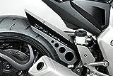 Honda CB1000R 2009/12 - Kit Kotflügel - Aluminium Heckfender Rear Mudguard Fender - Einfache Installation - Mattschwarz - Motorradzubehör De Pretto Moto (DPM) - 100% Made in Italy
