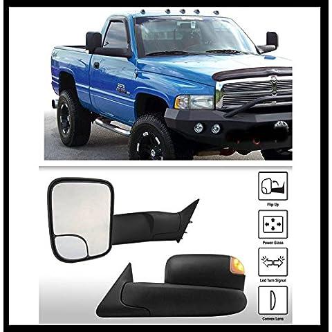 (Upgrade Kit con intermitente Lámpara) colgante espejo retrovisor Dodge Ram 1500Bj: 94–97, 2500, 3500Bj: 94–97(eléctrica, intermitente Lámpara, Manuel ausklappbar) par