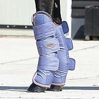 Weatherbeeta Wide Tab lunghi viaggi boots- lavanda marrone a quadri, taglia a scelta., Lavender Check, Cob