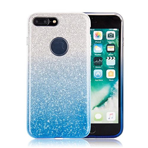 """iPhone X Case, VMAE Full Body Shiny Hybrid Case Soft TPU Hard PC 3in1 Untra Slim Protective Cover Shell for Apple iPhone X/iPhone 10 5.8"""" - SolidPurple GradientBlue"""