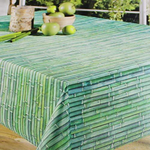 Kamaca - Mantel para exterior e interior impermeable y resistente a las manchas, apto para casa, terraza, balcón y jardín, distintos diseños y tamaños a elegir, toalla, bambú, 130 cm x 160 cm