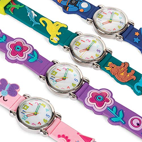 Timers Diversión - Colorido 3D reloj de pulsera de diseño analógico para niños