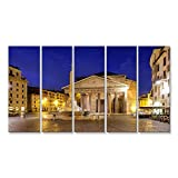 islandburner Tableau sur Toile Vue panoramique du Panthéon à Rome au Lever du Soleil, Italie Tableaux, Poster