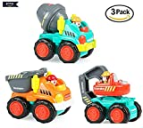 #2: BAYBEE Funbee Unbreakable Construction Automobiles Toy Set (Pack of 3)