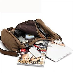 51qEEXPGOEL. SS300  - beibao shop Backpack–Aleatorio Caballero Packs Daypack Moda Lienzo Piel Viaje Senderismo Mochilas Ciudad universitaria Mochila Hombro Bolsa Portátil, Tablet, PC