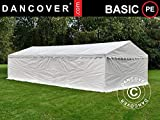 Dancover Lagerzelt Zeltgarage Garagenzelt-Basic 2-in-1, 4x8m PE, weiß