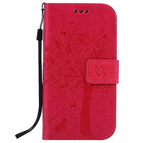 Nancen Compatible with Handyhülle Galaxy S4 / i9500 Flip Schutzhülle Zubehör Lederhülle mit Silikon Back Cover PU Leder Handytasche