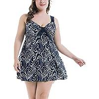 bd0df2acae57df EwigYou Große Größen Zweiteiliger Badeanzug Damen Pin up Tankini Bauchweg  Bademode Badekleid ...