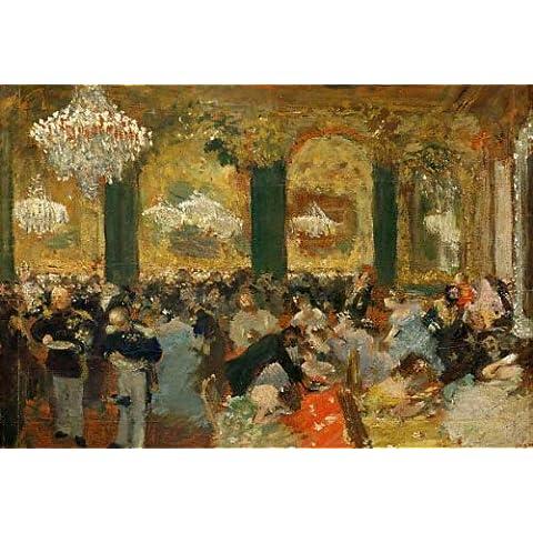 """Stampa artistica / Poster: Adolph Menzel """"Edgar Degas / Le souper au bal / 1879"""" - stampa di alta qualità, immagini, poster artistici, 100x70 cm"""
