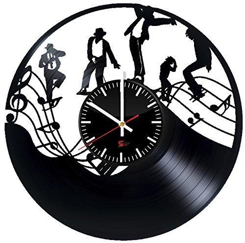 Beste Kostüme Thriller (König des Pops Entwurf Vinyl - Schallplatte Wanduhr – einzigartige Wohnzimmer Wanddeko – Geschenk Ideen für Erwachsene und Jugendliche – Einzigartige Musikfan - Kunst -)